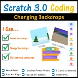 Scratch Coding Programming - Changing Backdrops Lesson (Scratch 3.0)