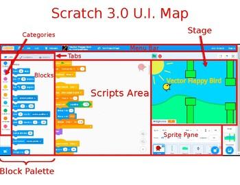 Scratch 3.0 User Interface Map ( U.I. Map)