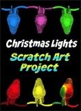 Scratch Art Christmas Lights