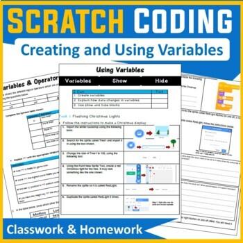 Scratch Programming - Variables & Operators