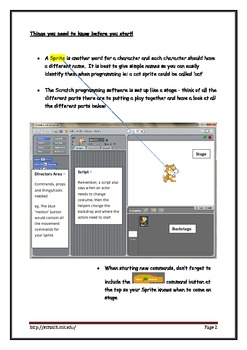 Scratch Beginners Workbook for Students and Teachers - Cheat Sheet - v1.4