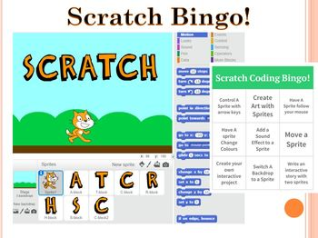 Scratch Coding Bingo! No Prep No Experience Needed! Answer Key Included!