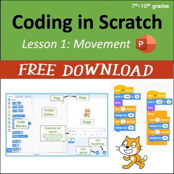 Computer Coding in Scratch 3.0 - Lesson 1: Movement