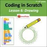 Computer Coding in Scratch 3.0 - Lesson 6: Drawing