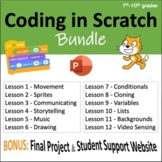 Computer Coding in Scratch: 12 Lesson BUNDLE