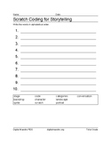 Scratch Coding for Story Telling Sorting Worksheet