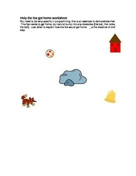 Scratch: Help The Fox Get Home Worksheet