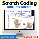 Computer Coding with Scratch 3.0 Booklets Bundle Distance