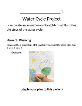 Scratch Jr. Coding the Water Cycle Project