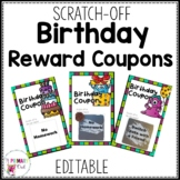 Scratch Off Birthday Reward Prize Coupons Editable BW and