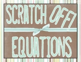 Scratch Off Game - Equations with Rational Coefficients