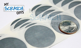 """Scratch Off Label - 1.25"""" Silver Round Scratch Off"""