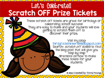 Scratch Off Prize Tickets