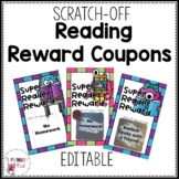 Scratch Off Reading Reward Prize Coupons Editable BW and C