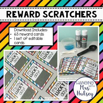 Scratch-Off Reward Cards (Editable): Reward Scratchers