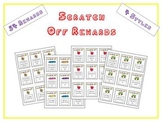 Scratch Off Reward Coupons! 54 Behavior Management Cards - 4 Styles + Goal Sheet