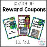 Scratch Off Reward Coupons Editable