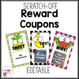 Scratch Off Reward Prize Coupons Editable BW and Color versions