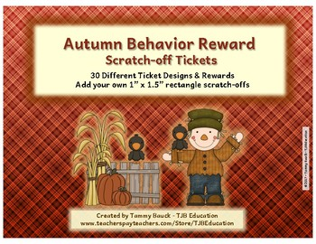 Scratch-Off Reward Tickets - Autumn Scarecrows