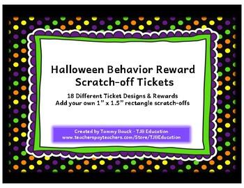 Scratch-Off Reward Tickets - Halloween Frames