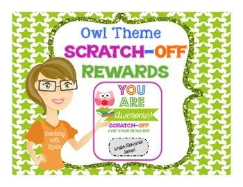 Scratch Off Rewards - Owls