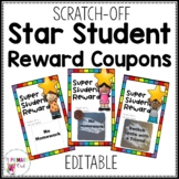 Scratch Off Star Student Reward Prize Coupons Editable BW