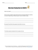 Scratch Planning Sheet      Planning your MIT Scratch Video Game