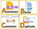 Scratch Coding Programming: Keywords Bulletin Board (A-Z) - Classroom Decor
