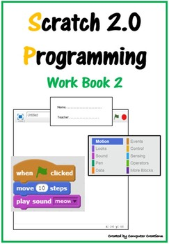 Scratch Programming Coding Booklet - Work Book 2 (ISTE 2016 Aligned)