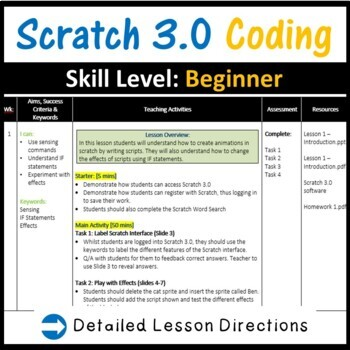 Scratch Programming Coding: The Ultimate Offline Lesson Plans Bundle – Save £23