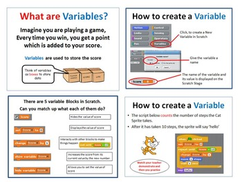 Scratch Programming Coding - Variables & Operators PowerPo