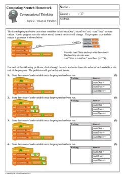 Scratch Programming - Computational Thinking Homework 2