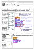 Scratch Programming - Computational Thinking Homework 5