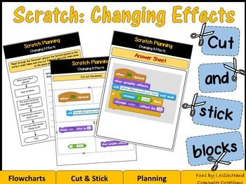 Scratch Programming: Changing Effects - Cut & Stick Blocks (CS Unplugged)