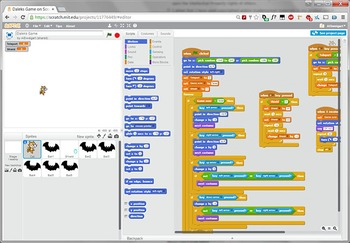 Scratch Programming Project Video Tutorial - Bat Chase Game