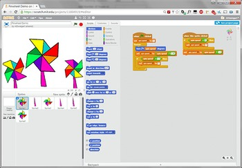 Scratch Programming Project Video Tutorial - Pinwheel Animation