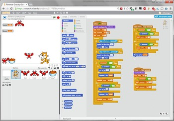 Scratch Programming Project Video Tutorial - Reversed Gravity Game
