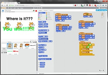 Scratch Programming Project Video Tutorial - Shell Game