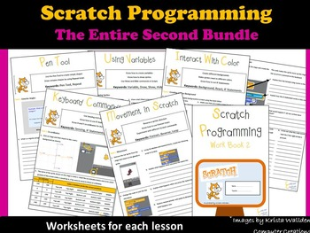 Scratch Programming-The Entire SECOND Bundle (ISTE 2016 Aligned)