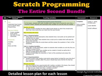 Scratch Programming Coding- The Entire 2nd Lesson Plans Bundle