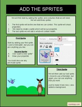 Scratch: Projectiles & Health (Game Mechanics #4)