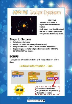 Scratch Solar System Simulation - Space