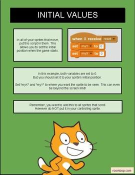 Scratch: Sprite Scrolling (Game Mechanics #1)