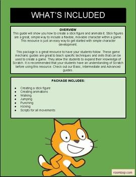 Scratch: Stick Figures (Game Mechanics #3)