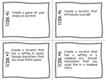 Scratch Task Cards