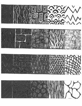 Scratch-board Textures