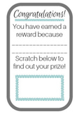Scratch off rewards Template and Printable