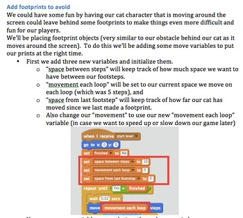 Scratch programming - Make a cat prints game