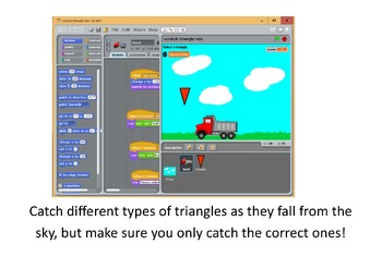 Scratch - shape drawing and programming / different triangles