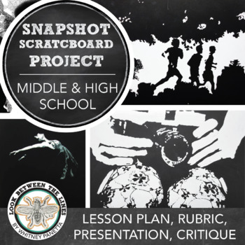 Scratchboard Drawing Assignment: Social Media & Fine Art, Middle or High School